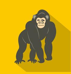 Bonobo monkey icon flat style vector