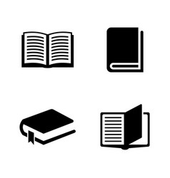 Books simple related icons vector