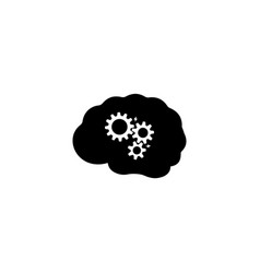 brainstorming school brainstorm icon simple flat vector image