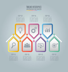 Business concept with 7 options steps vector