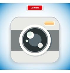 Camera App Icon Flat Style Design vector image