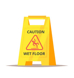 caution wet floor sign vector image