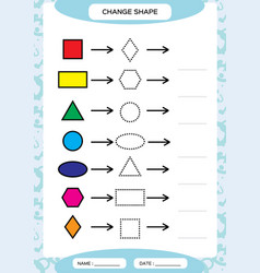 Change color colorful shapes learning basic vector