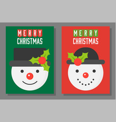 christmas theme poster and invitation card vector image