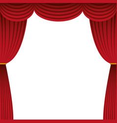 Cinema courtain isolated icon vector