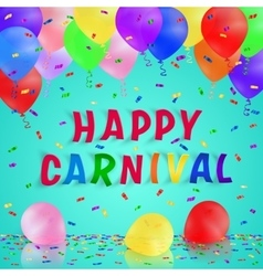 Colorful handmade typography words carnival vector image