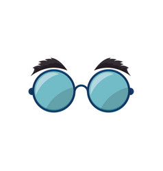 Comic glasses icon vector