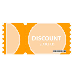 coupon discount image vector image