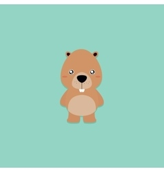 Cute Cartoon beaver vector image