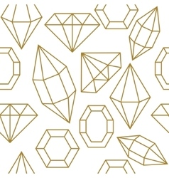 Diamond jem shape seamless pattern vector