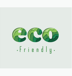 eco friendly paper concept vector image