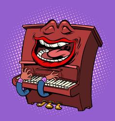 emoji character emotion piano musical instrument vector image