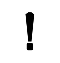 exclamation mark icon vector image