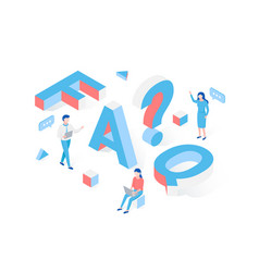 Faq frequently asked questions section vector