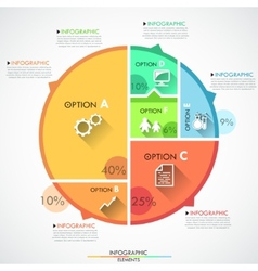 Flat infographics options banner vector