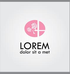 Flower rose beauty logo vector