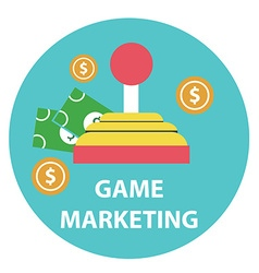 Game marketing and monetizing design concept vector
