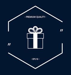 Gift box symbol icon vector