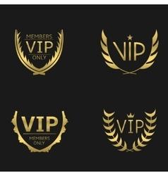 Golden VIP wreaths vector image