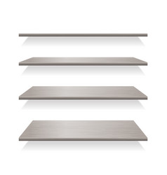 gray wood shelves with shadows vector image