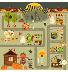 Halloween in Town vector image
