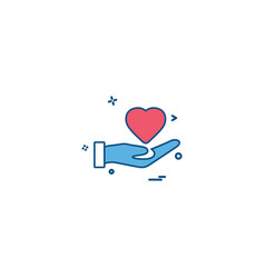 hand heart medical heart center icon desige vector image