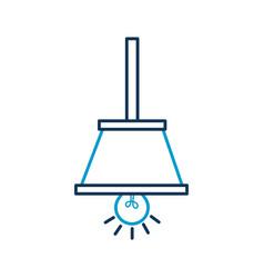 Hanging lamp bulb light decoration object vector