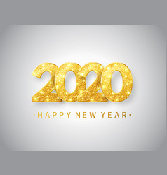 Happy new year 2020 background with gold glitter vector