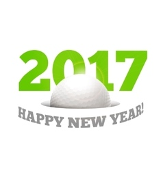 Happy New Year on the background of a golf ball vector