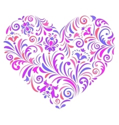 Heart on white background vector