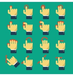 Icons with gestures vector