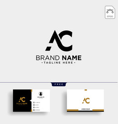 initial ac abstract geometric logo template and vector image