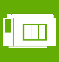 Inkjet printer cartridge icon green vector