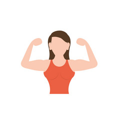 Isolated gym avatar woman icon flat design vector