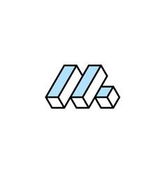 letter m logo design inspiration templatec vector image