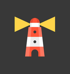 lighthouse icon flat design vector image