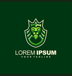 lion king crown logo design vector image