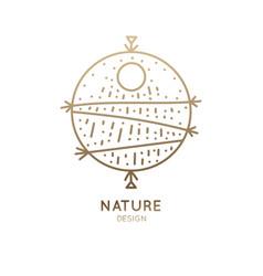 Logo abstract sea vector