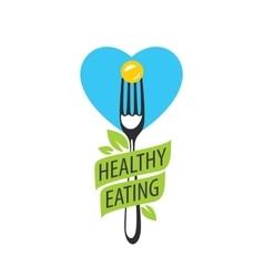 Logo healthy eating vector
