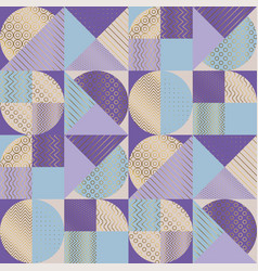 luxury elegant color geometry seamless pattern vector image