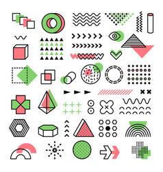 memphis graphic 90s fashion geometrical lines vector image