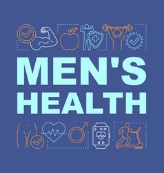 Mens health word concepts banner medical vector