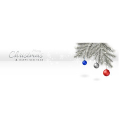 merry christmas background minimal with xmas vector image
