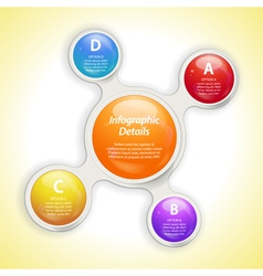 Metaball bubble infographic vector