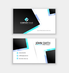 modern professional business card template vector image