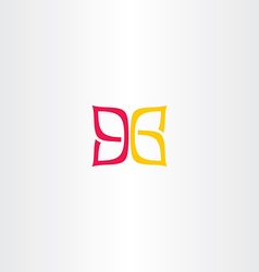 Ninety six 96 number 9 and 6 logo icon vector