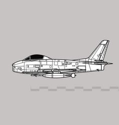 North american fj-3 fury vector