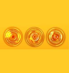 Orange juice or beer ripple top view wavy texture vector