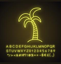 palm tree neon light icon vector image