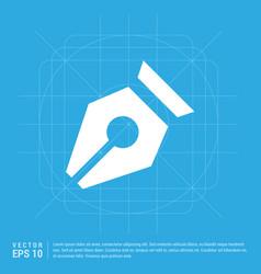 pen nib icon vector image